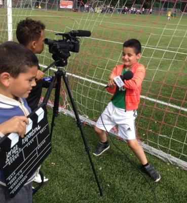 Jonge sportverslaggevers op WK Nederland